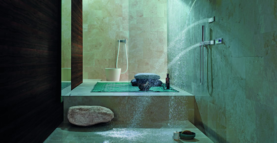 Interiors the latest trends in bathroom design by for Latest in bathroom design