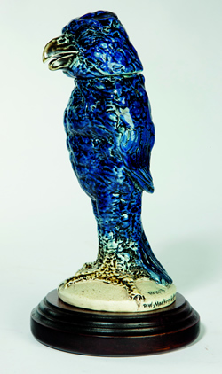 Martin Brothers bird with an unusual blue glaze
