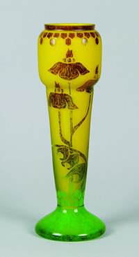 Le Verre Français cameo glass vase from Schneider Glassworks