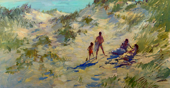 'On the Dunes' by Edward Brian Seago