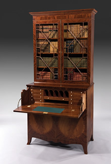 open-secrtaire-gillow-bookcase