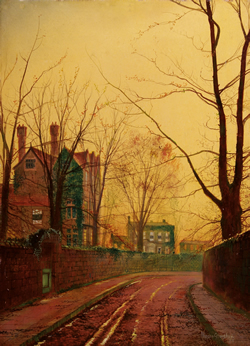 John Atkinson Grimshaw 'Autumn Afternoon' Oil on canvas from Haynes Fine Art of Broadway, price on application