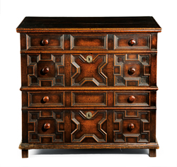 17th century oak Jacobean chest c1660 £2,350 from Melody Antiques