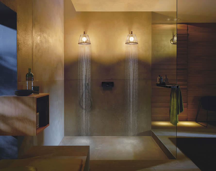 Axor One is Axor's first all-in one interactive shower control element.